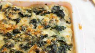 Celery Root Spinach Gratin