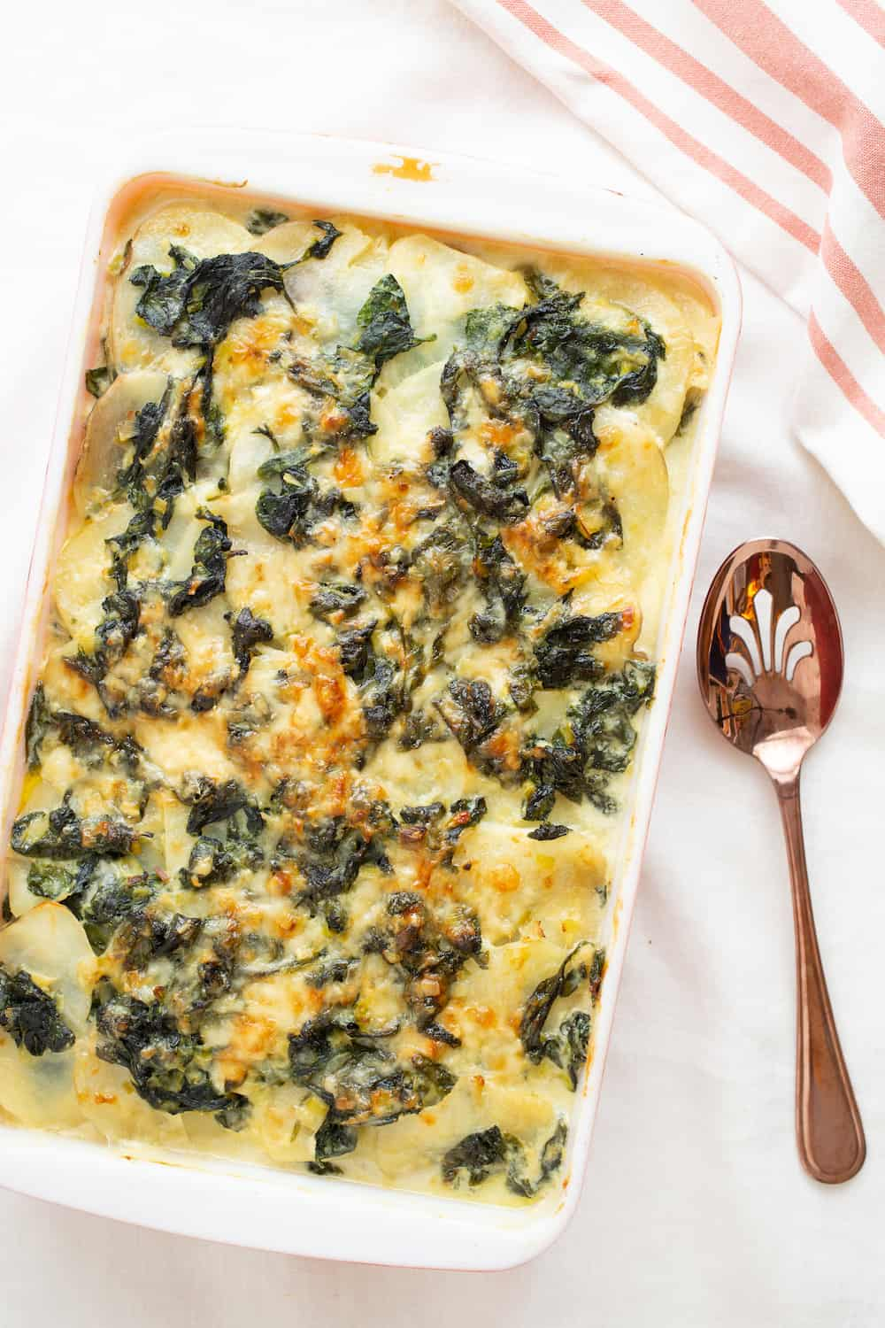 Celery Root Spinach Gratin: A Steakhouse-Inspired Side