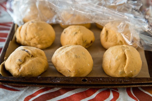make-ahead pumpkin-nut dinner rolls, via goodfoodstories.com