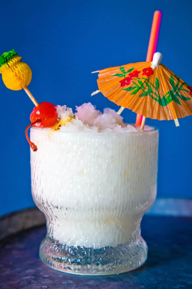 The Christmas Island is a holiday tiki drink similar to a pina colada with allspice and other wintry spices. It's festive and tropical at the same time.