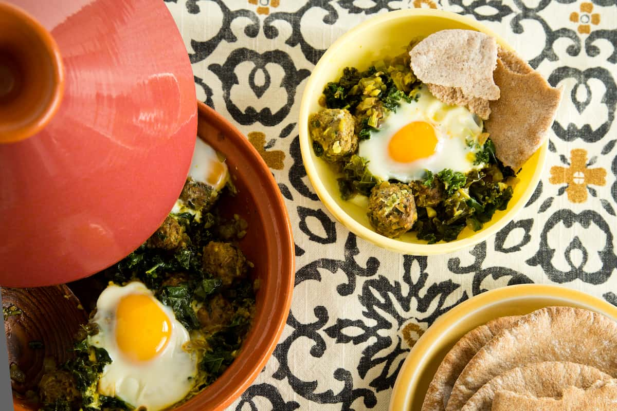 Need a new idea for a one-pot meal? Try a boldly flavored kofta tagine with tender lamb meatballs, poached eggs, and vegetables.