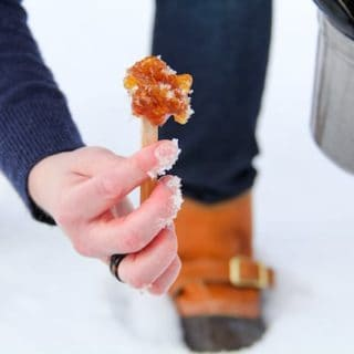 making maple snow taffy, via goodfoodstories.com