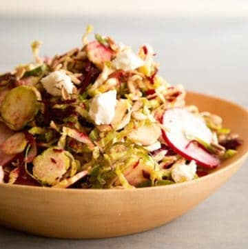 shaved Brussels sprout salad, via goodfoodstories.com