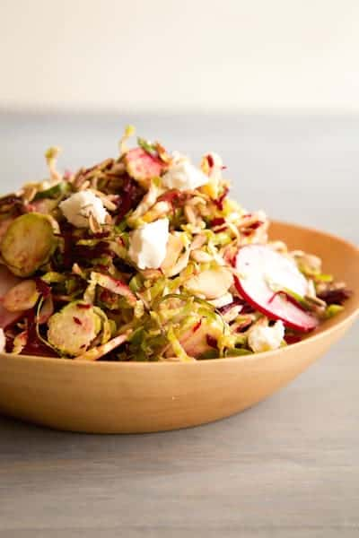 shaved Brussels sprout salad, via www.www.goodfoodstories.com