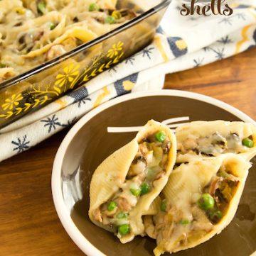"tuna noodle ""casserole"" shells for single-serving dinners, via goodfoodstories.com"