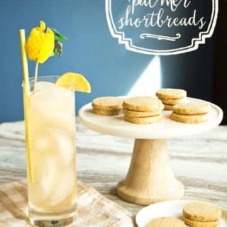 Arnold Palmer shortbread cookies, via goodfoodstories.com