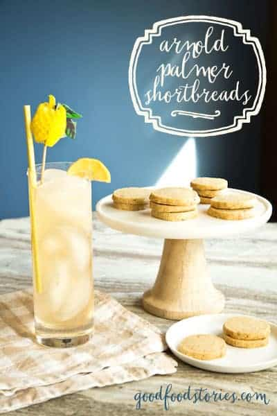 Arnold Palmer shortbread cookies, via www.www.goodfoodstories.com