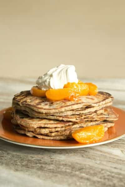 apricot poppy seed yogurt flatbreads topped with roasted apricots and yogurt whipped cream, via www.www.goodfoodstories.com