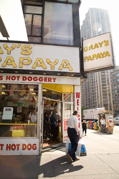 Gray's Papaya from You've Got Mail, via goodfoodstories.com