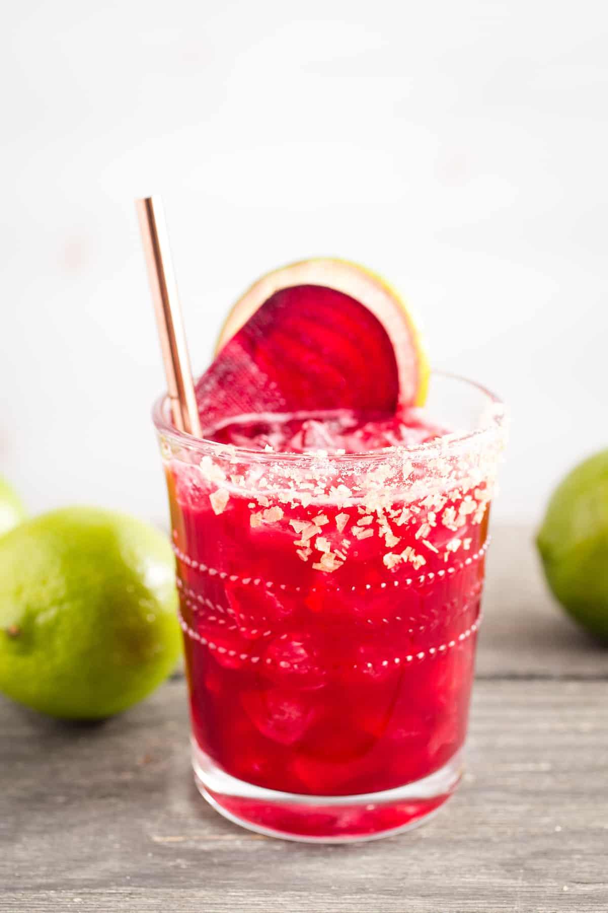 Mezcal Beet Margarita: The Red Alert!