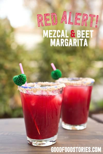 mezcal and beet margarita, via www.www.goodfoodstories.com