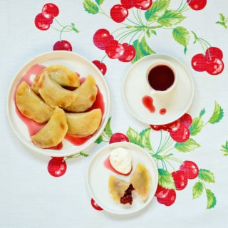 sour cherry pierogies from Pierogi Love: New Takes on an Old-World Comfort Food by Casey Barber - via goodfoodstories.com