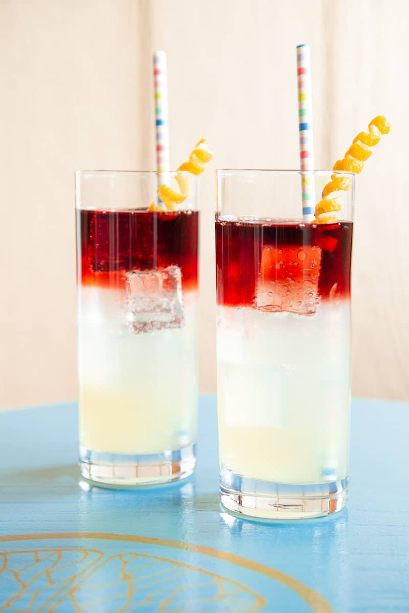 A red wine spritzer made with homemade sour mix is a refreshing change of pace from the usual rosé.