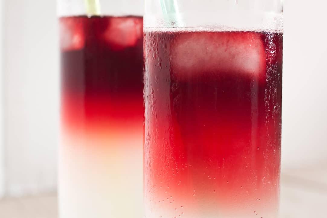summer red wine spritzer cocktail, via goodfoodstories.com