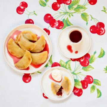 sour cherry pierogies