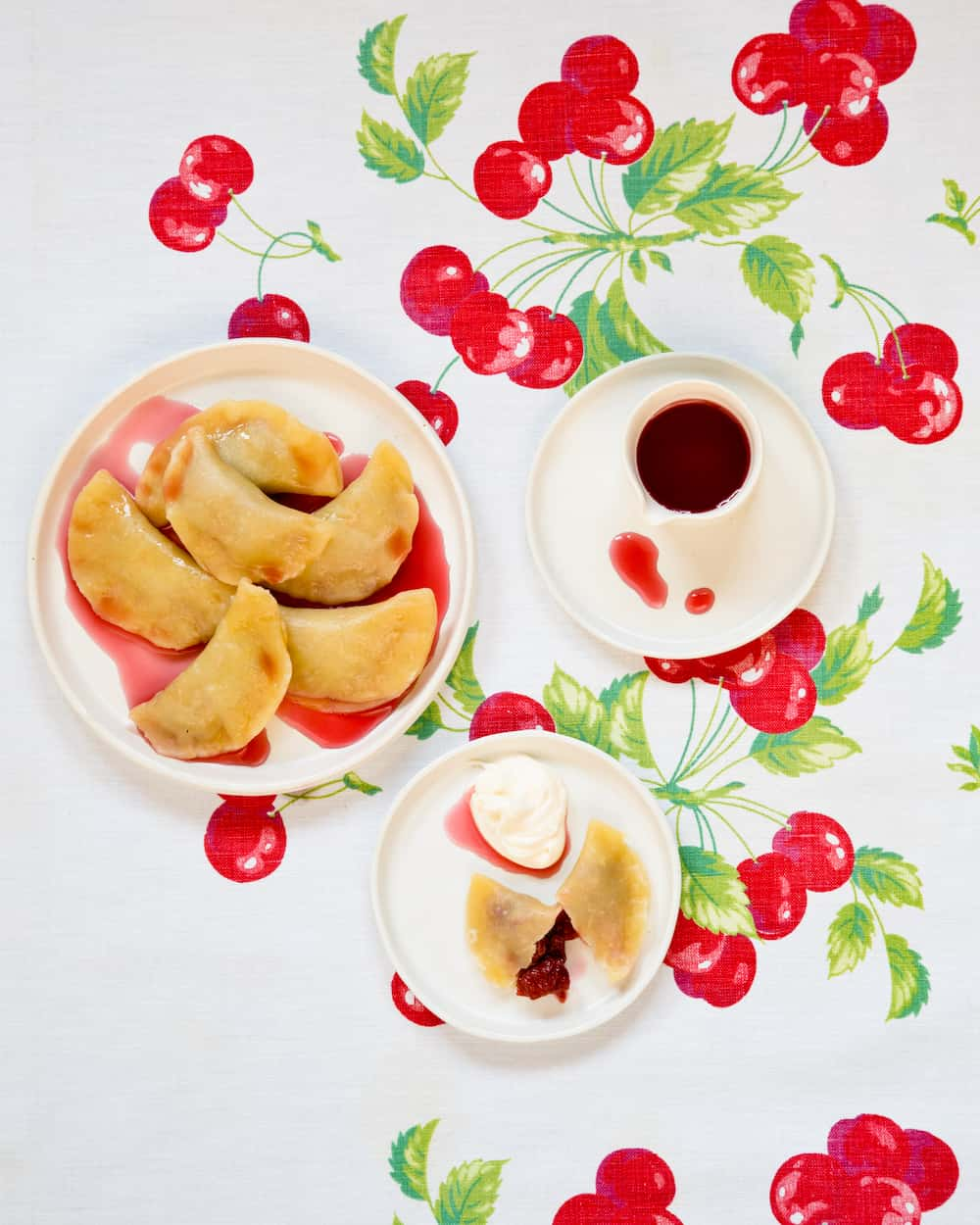 sour cherry pierogies