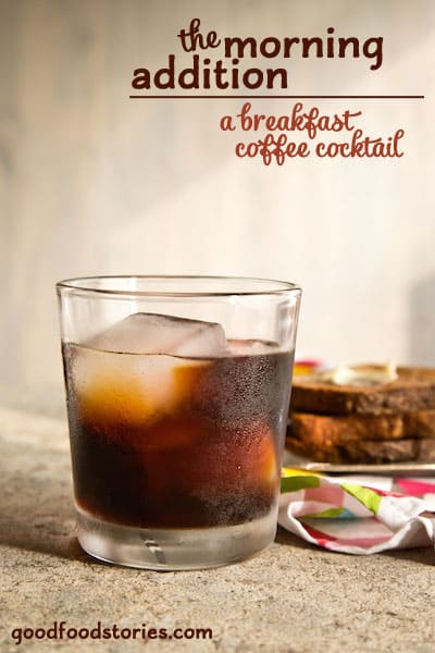 This easy coffee amaro cocktail is smooth and refreshing, and goes down easily after breakfast - or whenever you need a pick-me-up.