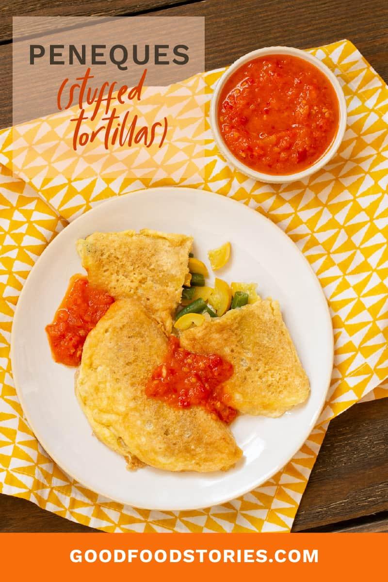 peneques - stuffed tortillas