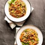 soba noodle bowls with vegetables