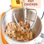 pulled chicken in stand mixer