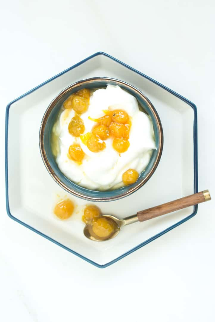 gooseberry or ground cherry compote, via www.goodfoodstories.com