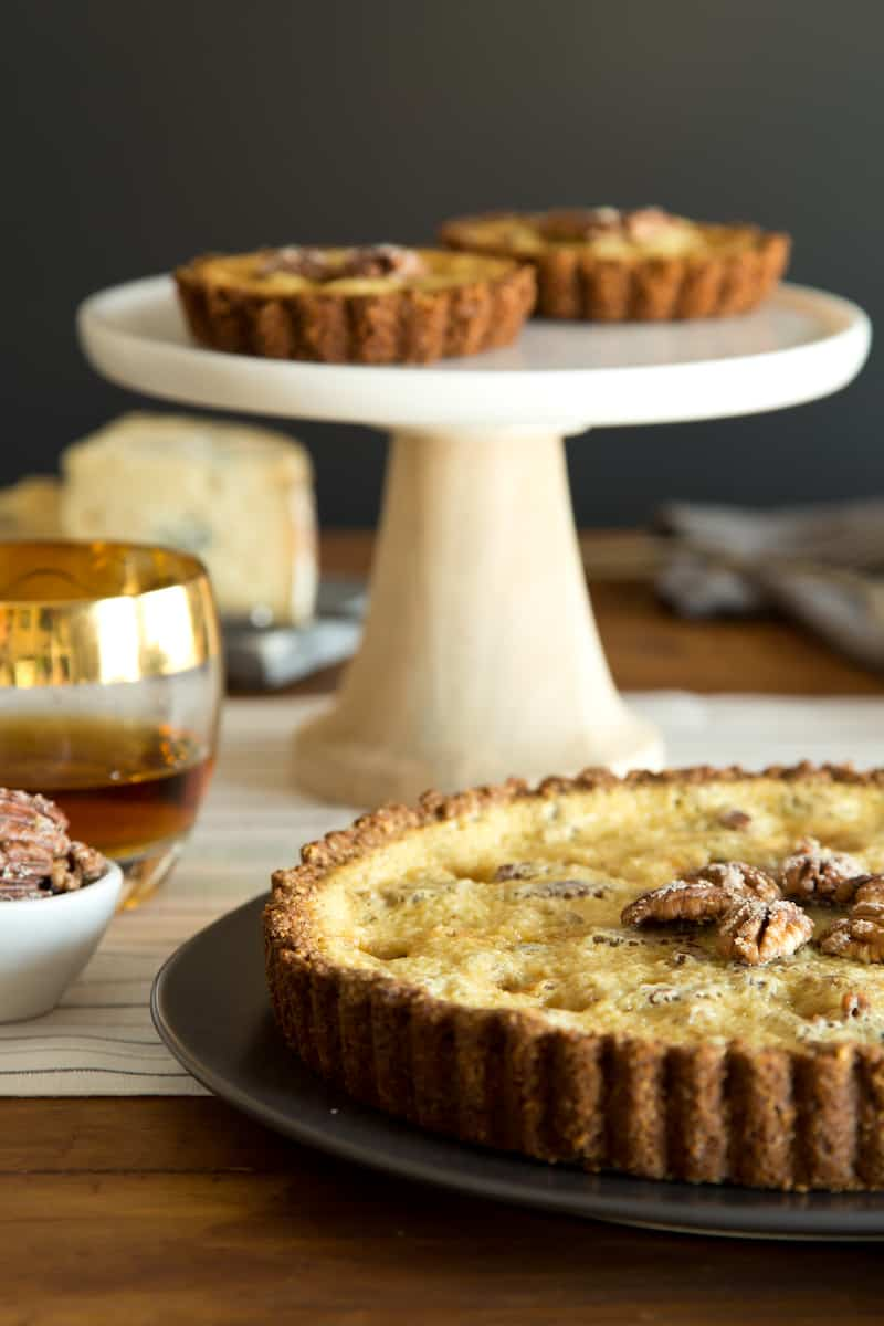 pecan maple blue cheese tarts, via goodfoodstories.com