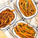Baked Sweet Potato Fries One, Two, Three Ways