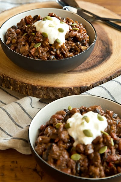 bean-lentil chili, via www.www.goodfoodstories.com
