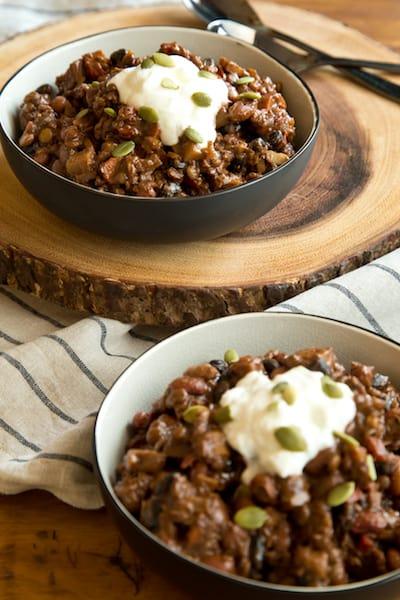 bean-lentil chili, via goodfoodstories.com