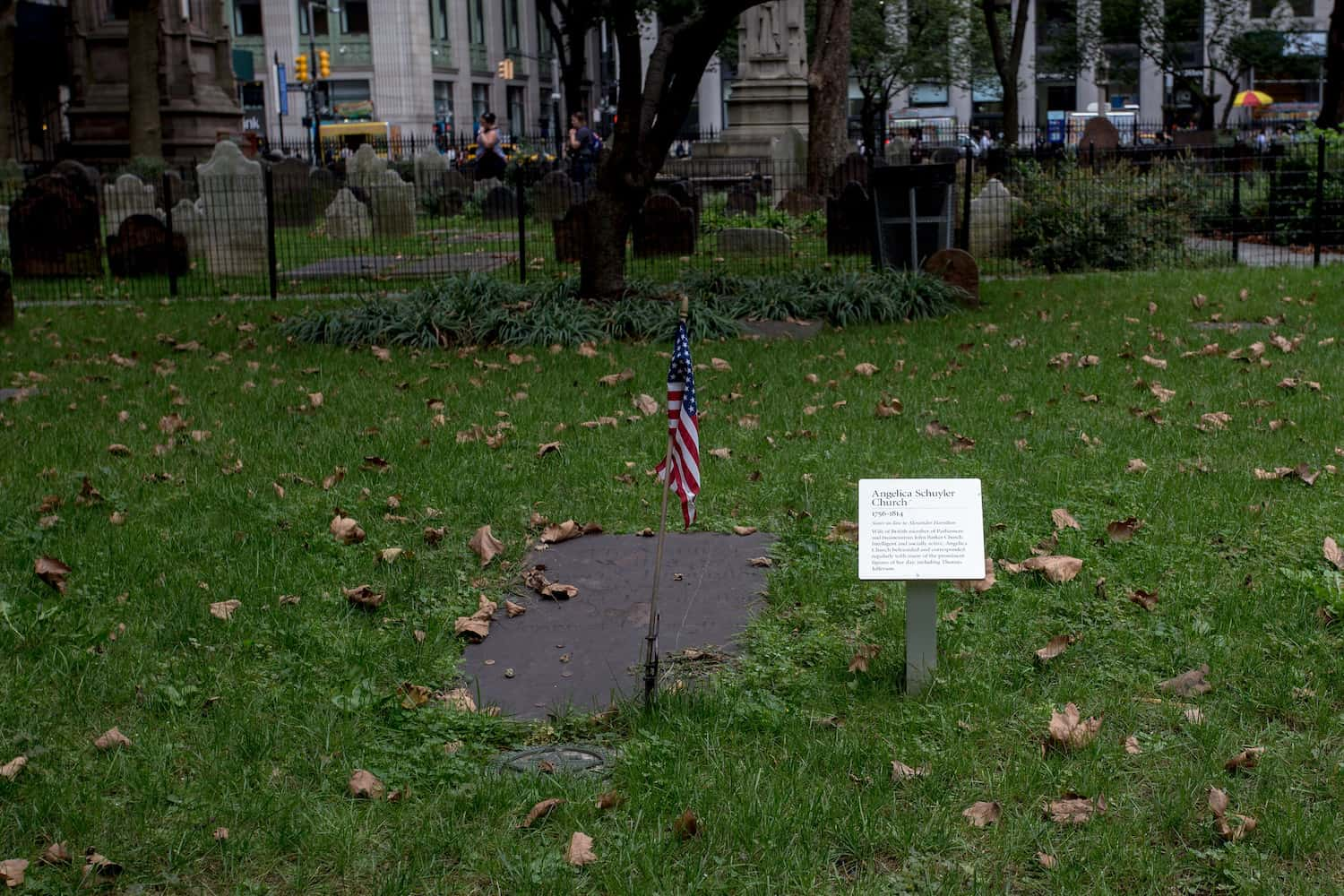 Angelica Schuyler Church gravesite
