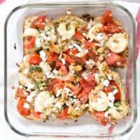 Roasted Shrimp, Tomato, and Feta Bruschetta