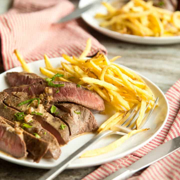 Steak Frites for Two in 30 Minutes