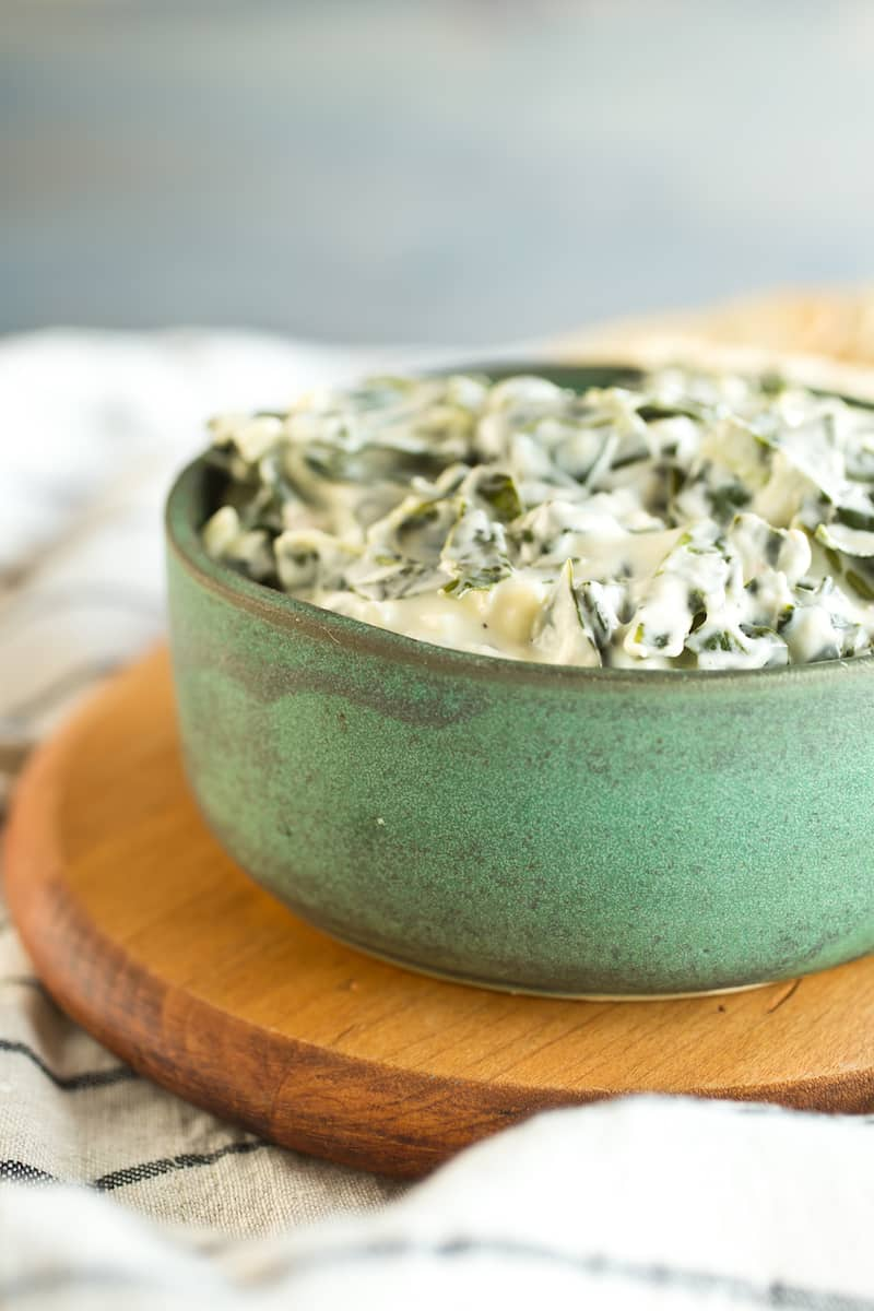 Collard caesar dip blends hearty shredded greens in a creamy, garlicky spread inspired by the classic salad dressing. Grab a bread bowl.