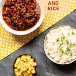 new orleans red beans and rice with pineapple salsa