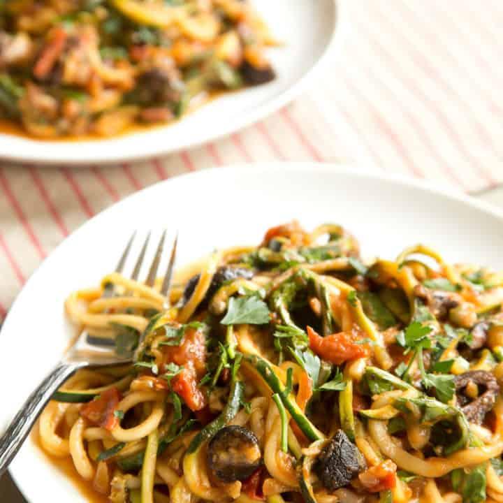 Vegan Zucchini Puttanesca