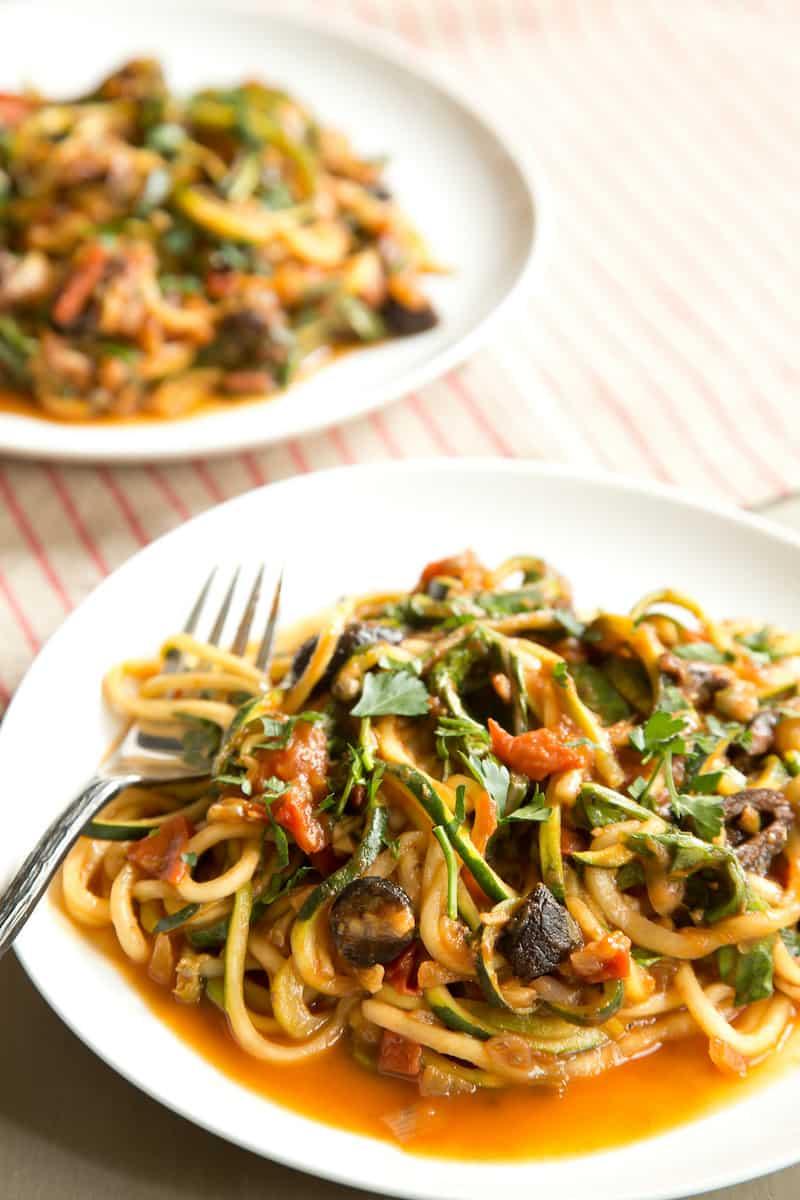 vegan zucchini puttanesca, via goodfoodstories.com