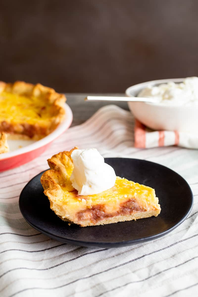 rhubarb lemon pie with no-roll crust