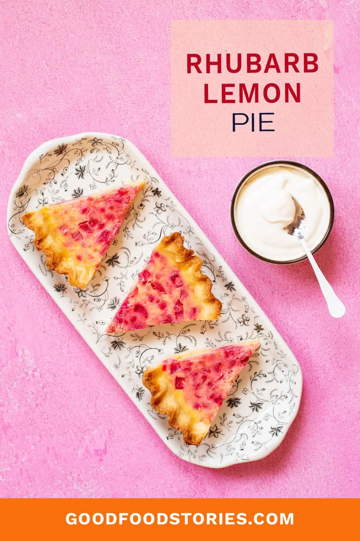 slices of rhubarb lemon pie