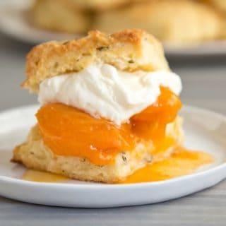 rosemary apricot shortcakes, via www.www.goodfoodstories.com