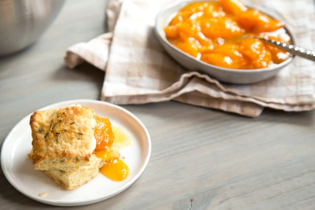 rosemary apricot shortcakes, via www.www.goodfoodstories.com