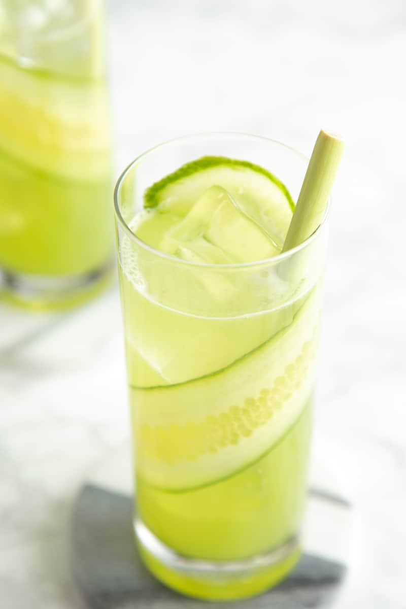lemongrass cucumber cocktail