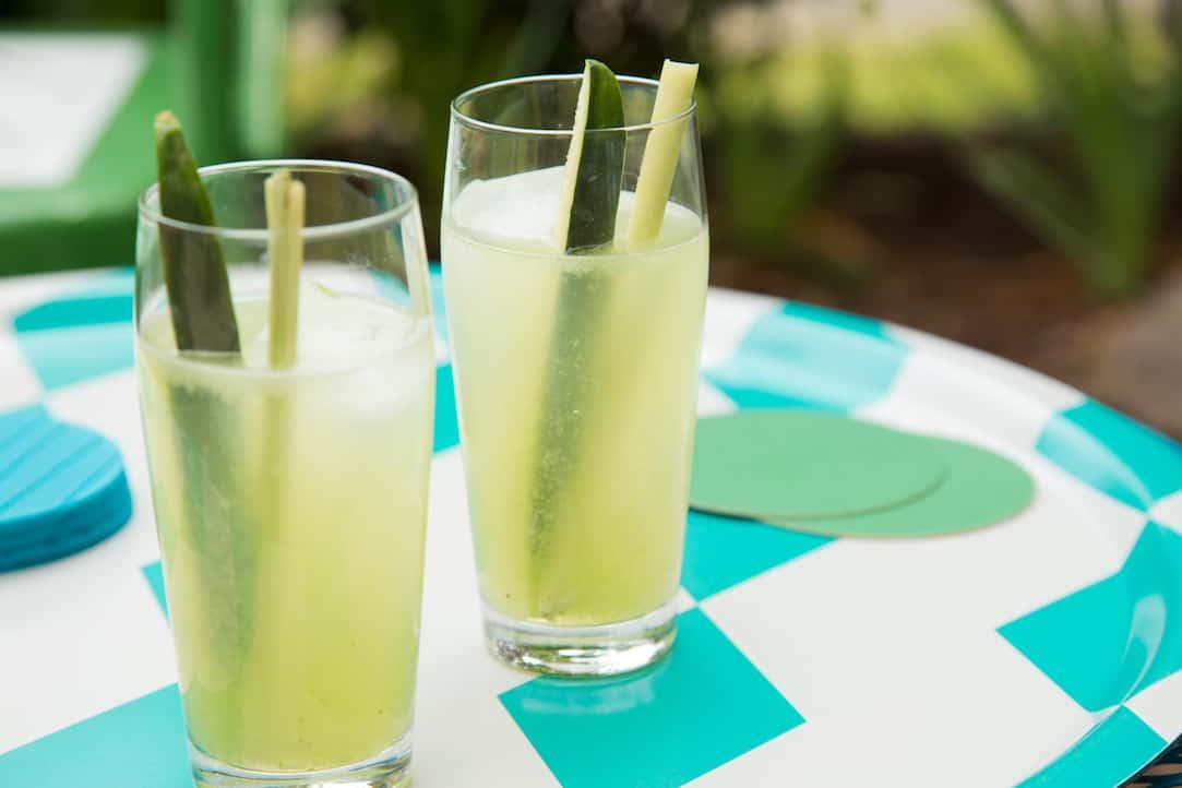 lemongrass cucumber cocktails, via goodfoodstories.com