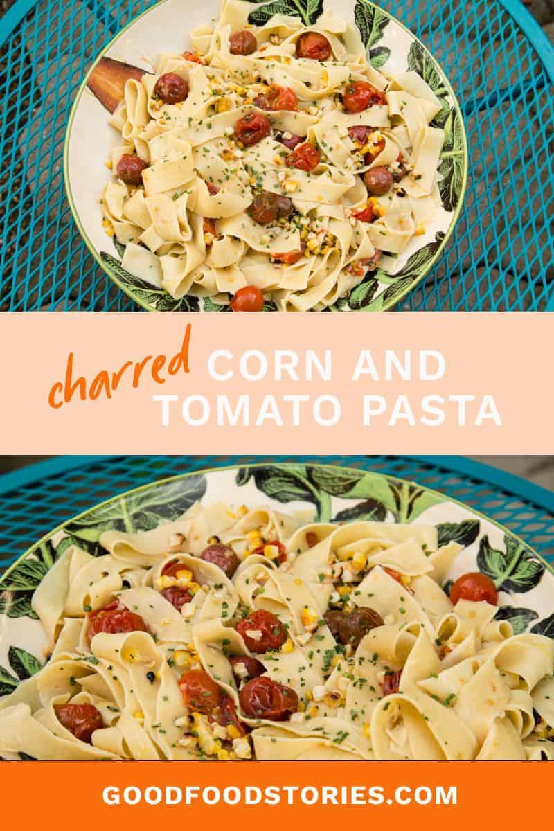 corn and tomato pasta