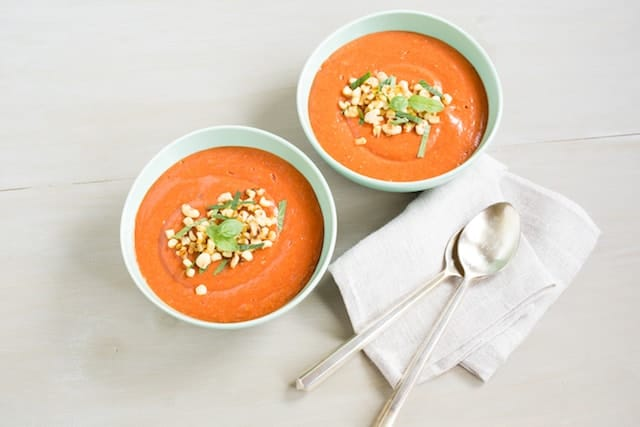 Roasted Peach Gazpacho