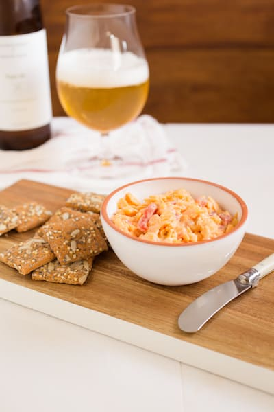 a single-serving portion of pimiento cheese, via www.www.goodfoodstories.com