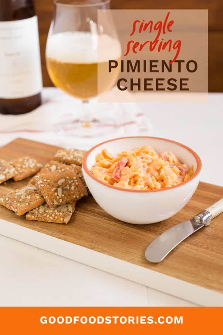 Make a single serving of pimiento cheese with this scaled-down recipe, and indulge your creamy, cheesy cravings without going overboard. #pimientocheese #pimentocheese #singleserving #cheesedip