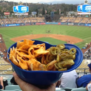 Dodgers Stadium nachos, via www.www.goodfoodstories.com