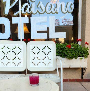 Hotel Paisano's prickly pear margarita, via goodfoodstories.com