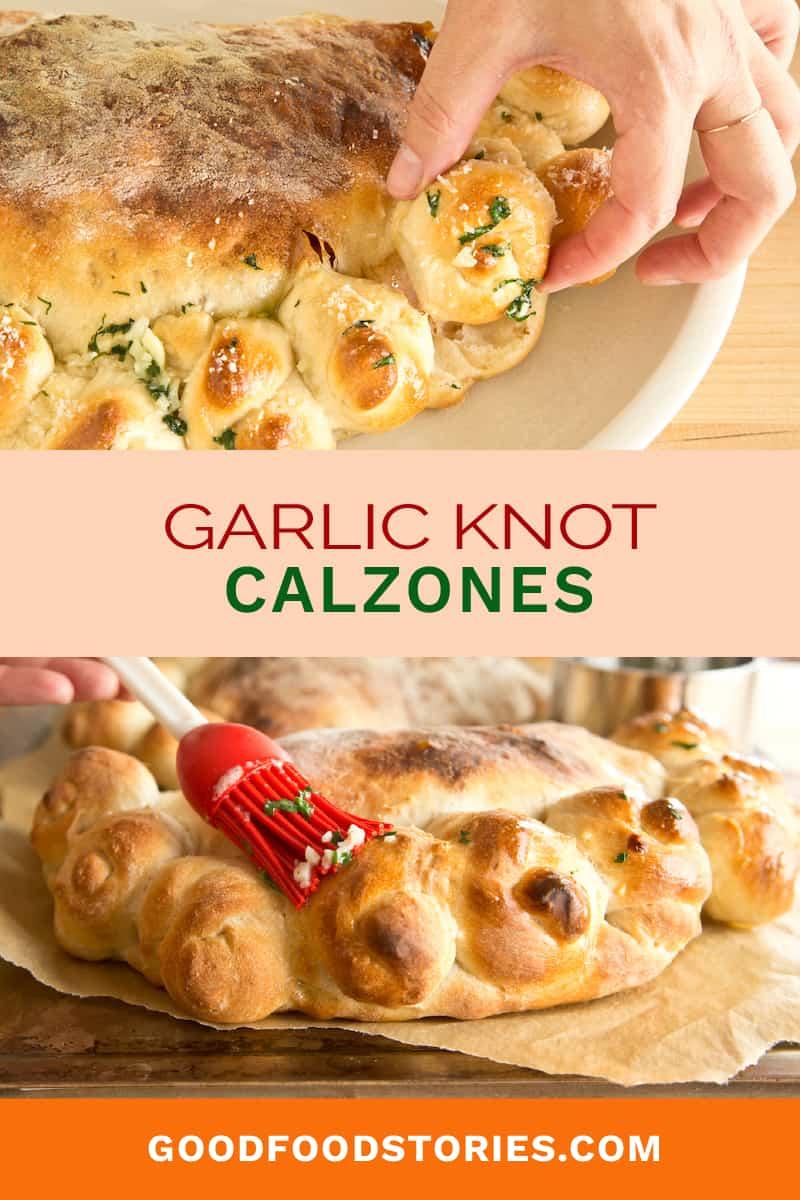 garlic knot calzones