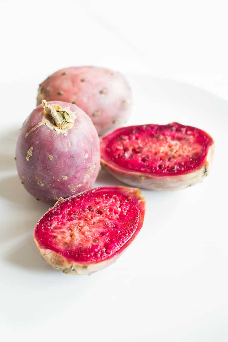 fresh prickly pears, aka cactus pears or tuna verde